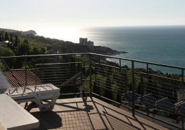 Двухкомнатный люкс: в Крыму Алупка вид на море